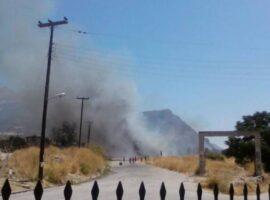 Πυρκαγιά στον καταυλισμό ρομά στον Ριγανόκαμπο Αχαΐας