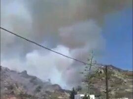 Πυρκαγιά ΤΩΡΑ σε χορτολιβαδική έκταση στην Νάξο.(φωτο από το συμβαν)