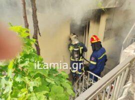 Λαμια:Πυρκαγιά σε ισόγειο διαμέρισμα που έμενε ηλικιωμένη γυναίκα (φωτο)