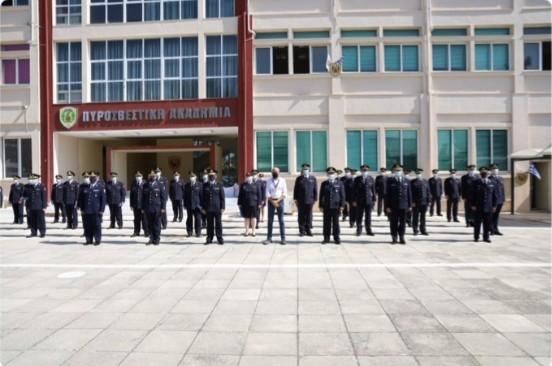 Τελετή απονομής πτυχίων Β΄ τμήματος 27ης Ε.Σ. της Σχολής Επιμόρφωσης και Μετεκπαίδευσης Αξιωματικών του Πυροσβεστικού Σώματος