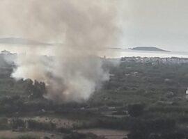 Πυρκαγιά σε χορτολιβαδική έκταση στα Λιβάδια Νάξου