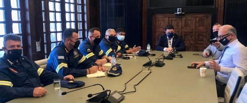 Ολοκληρώθηκε η επίσκεψη του Νίκου Χαρδαλιά στη Ρόδο: «Αλλάζουμε τα πάντα στην Πολιτική Προστασία»
