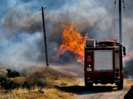 Πυρκαγιά εν υπαίθρω στο Βγέθι Κερατέας