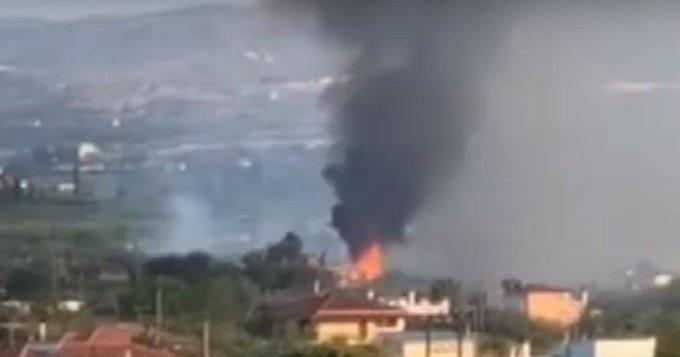 Πυρκαγιά σε αγροτοδασική έκταση στο Κίατο Κορινθίας
