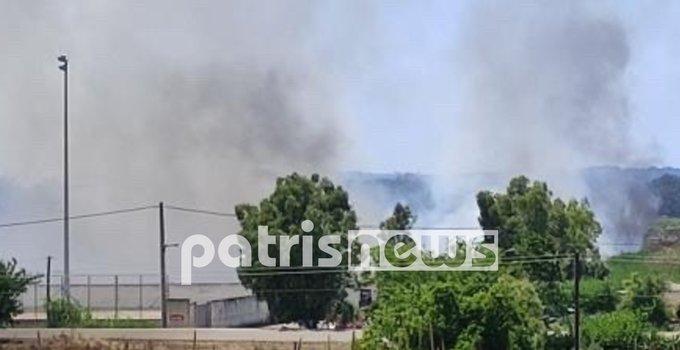 Πυρκαγιά στο γήπεδο της Σπιάντζας στην Ηλεία