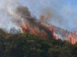 Κρήτη- Μεγάλη πυρκαγιά κοντά στο Πεδίο Βολής Γουβών – Εκρήξεις από βλήματα!