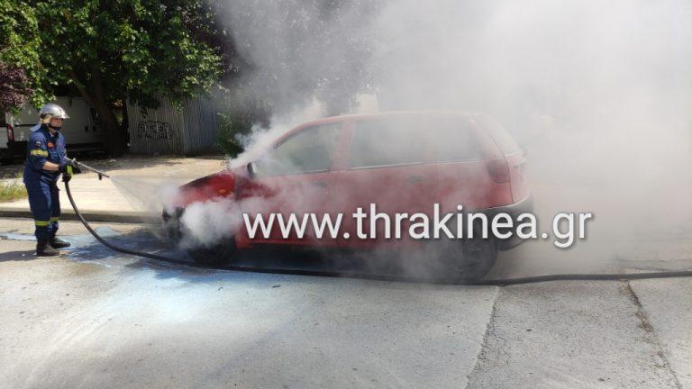Πυρκαγιά σε Ι.Χ.Ε.όχημα στην Ορεστιάδα.(φωτο)