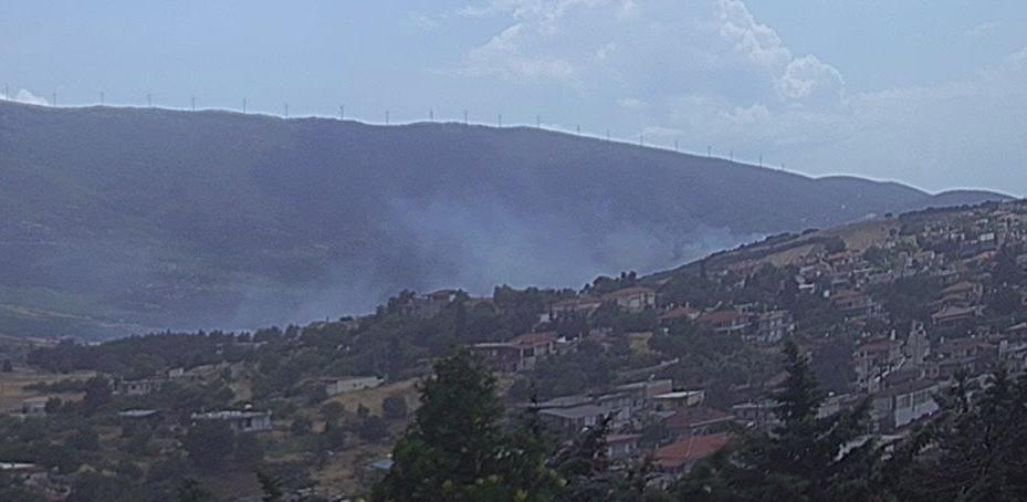 Πυρκαγιά ΤΩΡΑ στο Καπαρέλλι Βοιωτίας (Φώτο)
