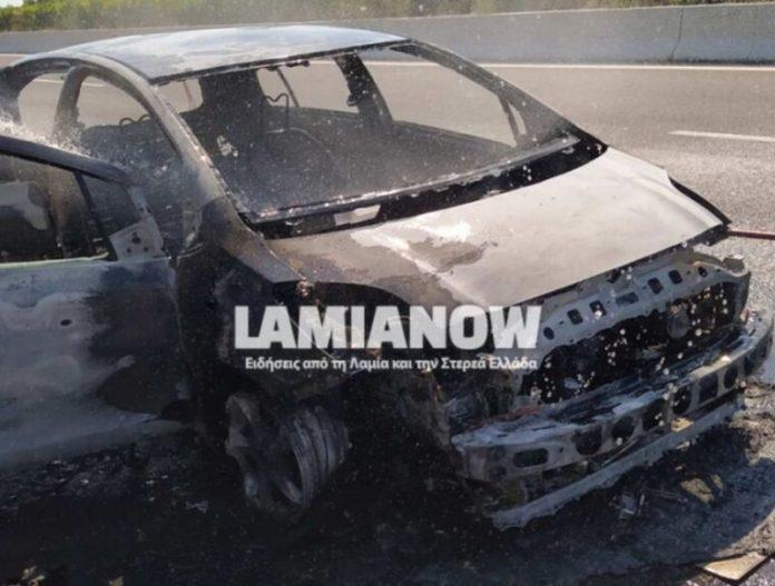 Πυρκαγιά σε Ι.Χ.Ε.όχημα στην Φθιώτιδα.(βίντεο)