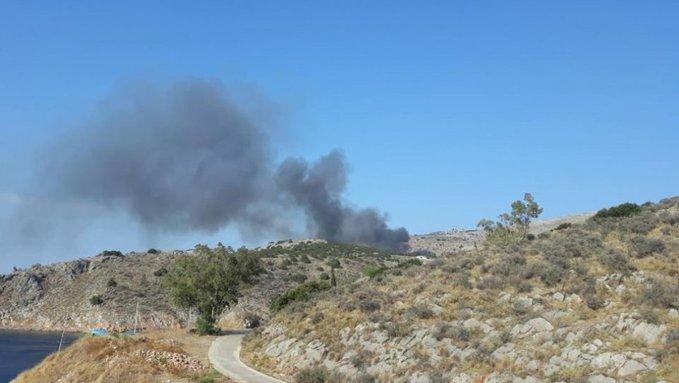 Σε εξέλιξη πυρκαγιά σε χαμηλή βλάστηση στην Ύδρα
