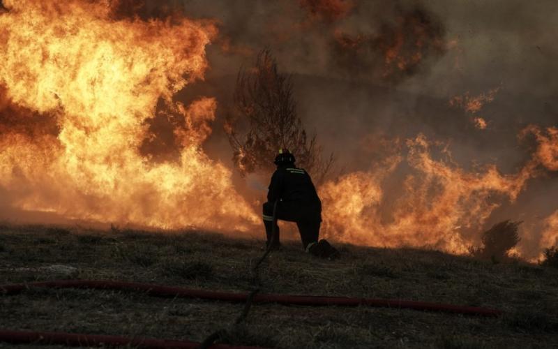 Πυρκαγιά σε οικοπεδικό χωρο στης Σαλαμίνα