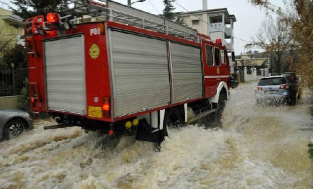 Ενέργειες του Πυροσβεστικού Σώματος μετά την εκδήλωση έντονων βροχοπτώσεων στα Γρεβενά