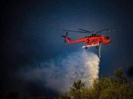 Κρητη-Ενισχύονται η δυνάμεις στην πυρκαγιά στο πεδίο βολής Γουβών.