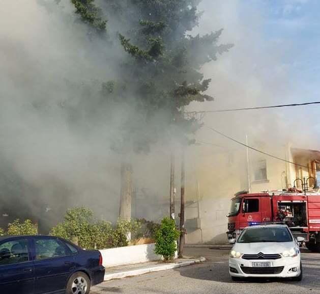 Πυρκαγιά σε οικία στην Ηγουμενίτσα.Ηλικιωμένη γυναίκα μεταφέρθηκε σε ασφαλές σημείο