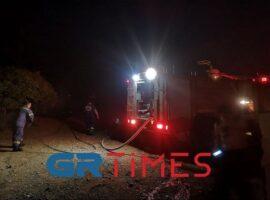 Από κλεμμένο φορτηγάκι του δήμου ξεκίνησε η πυρκαγια στην Ευκαρπία.(βίντεο)
