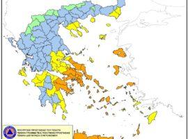Χάρτης Πρόβλεψης Κινδύνου Πυρκαγιάς 25/07/2021