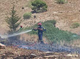 Πυρκαγιά σε γεωργική έκταση στην περιοχή Ξουράφη στο Χιλιομόδι Κορινθίας