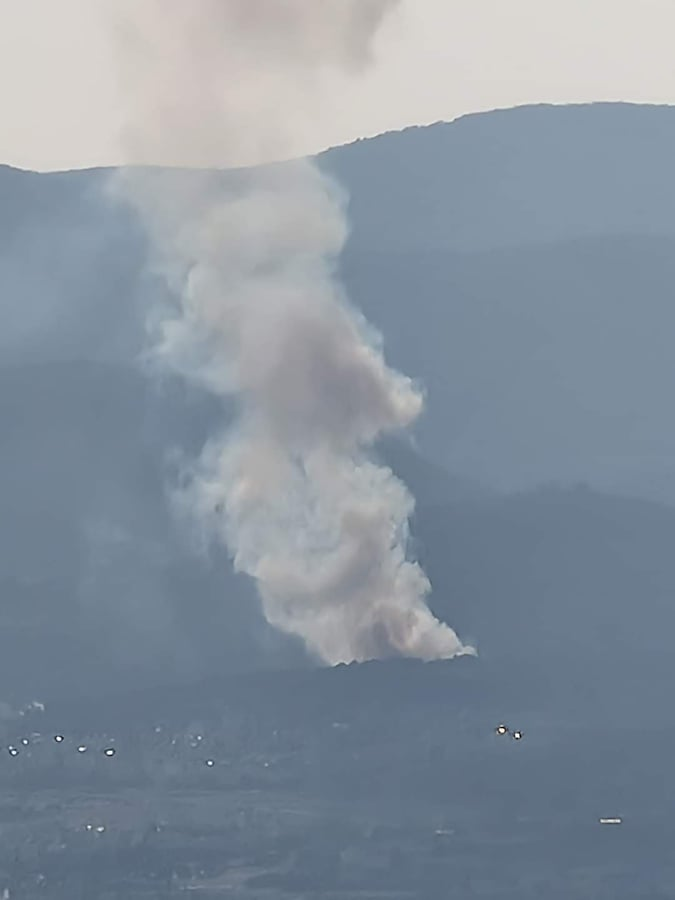 Πυρκαγιά ΤΩΡΑ δασική έκταση στην Χασιά Αττικής (Φώτο)