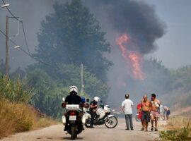 Νεα πυρκαγιά ΤΩΡΑ στην περιοχή Ροδοδάφνη Αιγίου