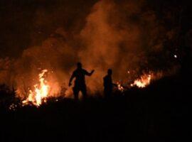 Πυρκαγιά σε εξέλιξη σε χορτολιβαδική έκταση στην περιοχή Άντισσα στην Λέσβο