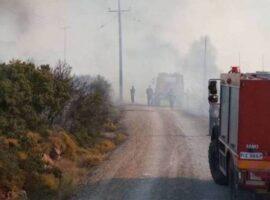 Πυρκαγιά εν υπαίθρω στο πεδίο βολής στην Κόρινθο