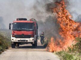 Πυρκαγιά σε αγροτοδασική έκταση στον Άστρικα Χανίων.