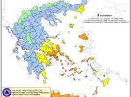Χάρτης Πρόβλεψης Κινδύνου Πυρκαγιάς 24/07/2021