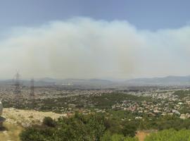 Πυρκαγιά στη Σταμάτα – Αποπνικτική ατμόσφαιρα στην Αττική
