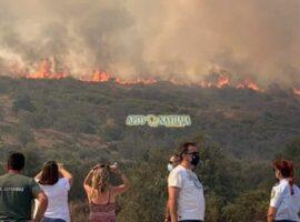 Πυρκαγιά στην Αργολίδα: Εντολή για πλήρη εκκένωση του χωριού Γκάτζια