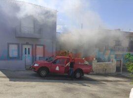 Πυρκαγιά σε σπιτί στον Χάρακα Ηρακλείου