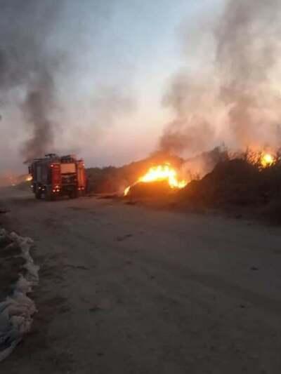 Πυρκαγιά σε απορρίμματα στον Απιδεώνα Αχαΐας.(φώτο από το συμβάν)