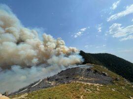Σε εξέλιξη η πυρκαγιά μεταξύ Φελλίου και Καρπερού Γρεβενών