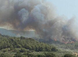 Ρόδος: Συνεχίζει ανεξέλεγκτη ή πυρκαγιά ερχεται το ρώσικο αεροπλάνο Beriev Be 200 (Φωτο)