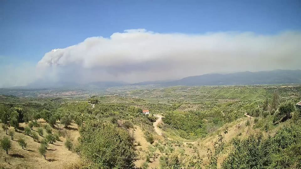 Πυρκαγιά στην Ηλεία: Πλησιάζουν το χωριό Βαρβάσαινα οι φλόγες – Αρνούνται να φύγουν οι κάτοικοι