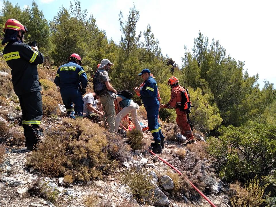Τραυματισμός εθελοντή πολίτη στο Φλαμπούρι (Φώτο)