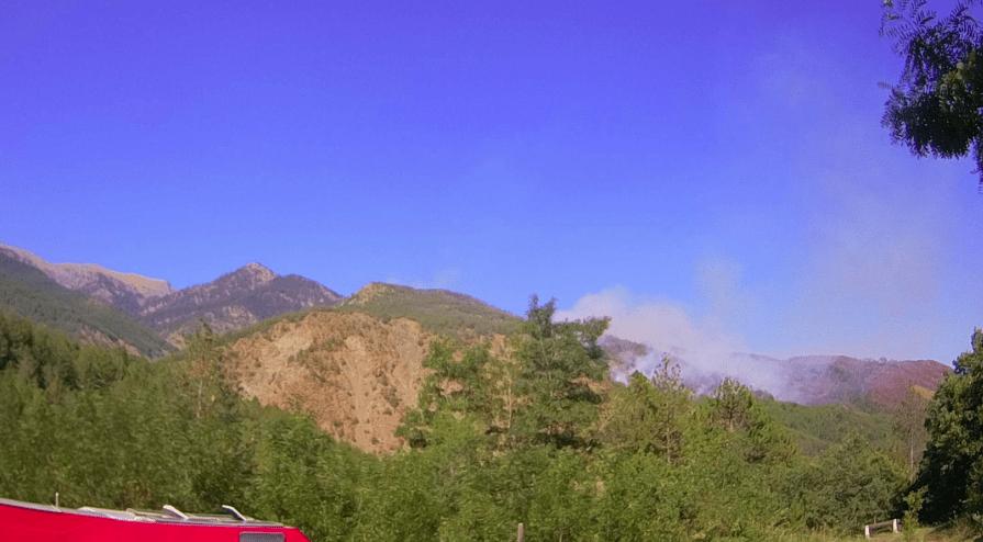 Αναζωπυρώθηκε η πυρκαγιά στους Πάδες της Κόνιτσας (Φώτο)