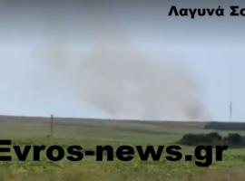Πυρκαγιά σε χορτολιβαδική έκταση στο χωριό Λαγυνά Έβρου (Βίντεο)