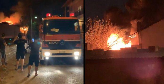 acharnaikanea Φωτιά ξέσπασε σε διώροφη κατοικία στις Αχαρνές 696x357 1