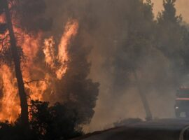 Πυρκαγιά στην Εύβοια: Πυροσβεστικό όχημα κάηκε – Απο θαυμα γλύτωσαν οι πυροσβέστες