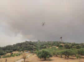 Πυρκαγιά στην Εύβοια  – Στα 100 μέτρα από τις Κεχριές οι φλόγες