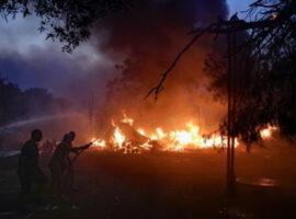 Πυρκαγιά στα Παλιάμπελα στην Βόνιτσα