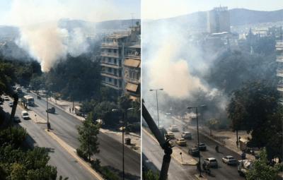 Πυρκαγιά στο Πεδίον του Άρεως: Σύλληψη γυναίκας για απόπειρα εμπρησμού