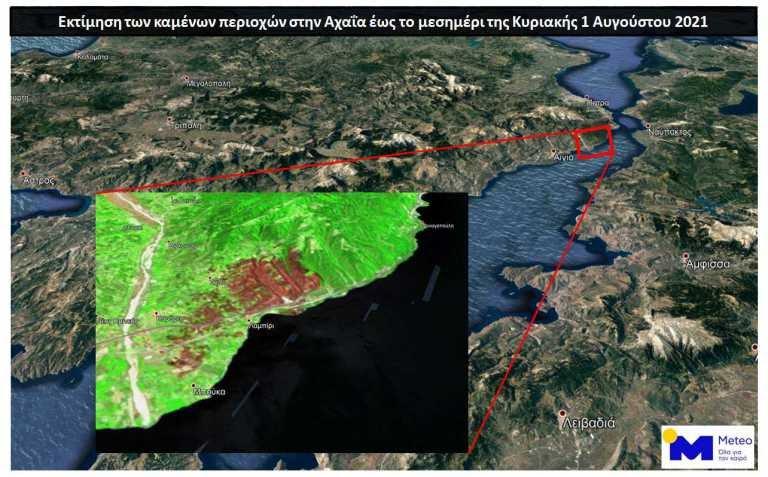 Πυρκαγιά στην Αχαΐα: Πάνω από 3.000 στρέμματα έγιναν στάχτη