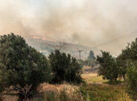 Πυρκαγιά στη Ευβοίας: Τέσσερα τα μέτωπα της φωτιάς – Καθηλωμένα τα εναέρια μέσα