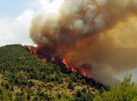 Κρητη-Μεγάλη πυρκαγιά μεταξύ Αγίας Βαρβάρας και Αγίου Θωμά