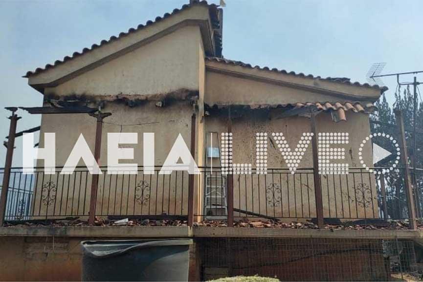 Ηλεία-Καμένα σπίτια στην περιοχή Βίλλια της Νεμούτας (photos)
