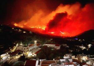 Ενισχύονται η δυναμεις στην δασική πυρκαγιά στην Κάρπαθο.(φωτό)