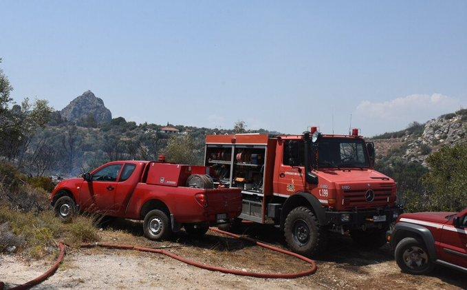 Πυρκαγιά σε χορτολιβαδική έκταση στο Ωραιόκαστρο Θεσσαλονίκης