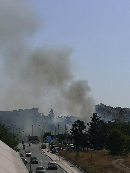 Πυρκαγιά εν υπαίθρω στην ανατολική Θεσσαλονίκη