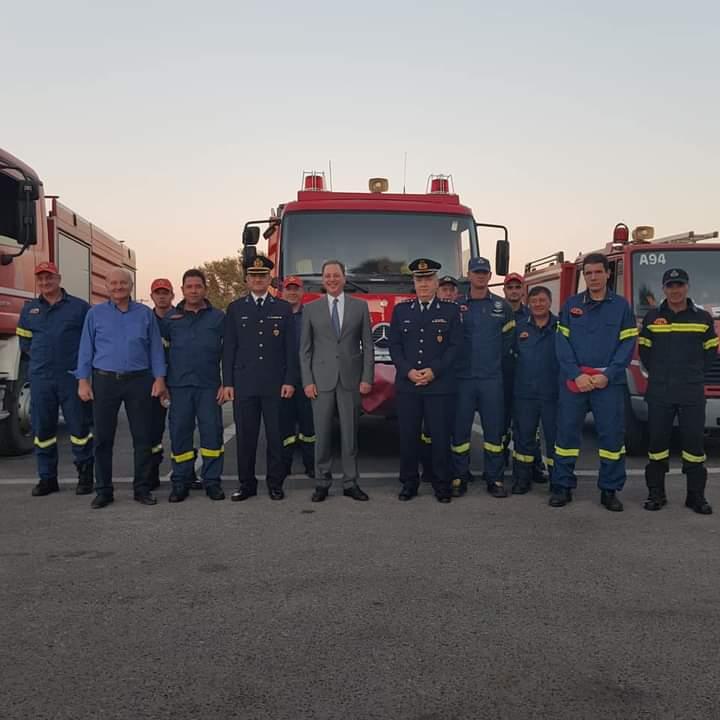 Εύσημα Λιβανού στους Πυροσβέστες της Αιτωλοακαρνανίας (Φωτό)